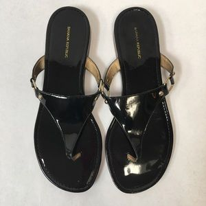 BANANA REPUBLIC black sandals size 9